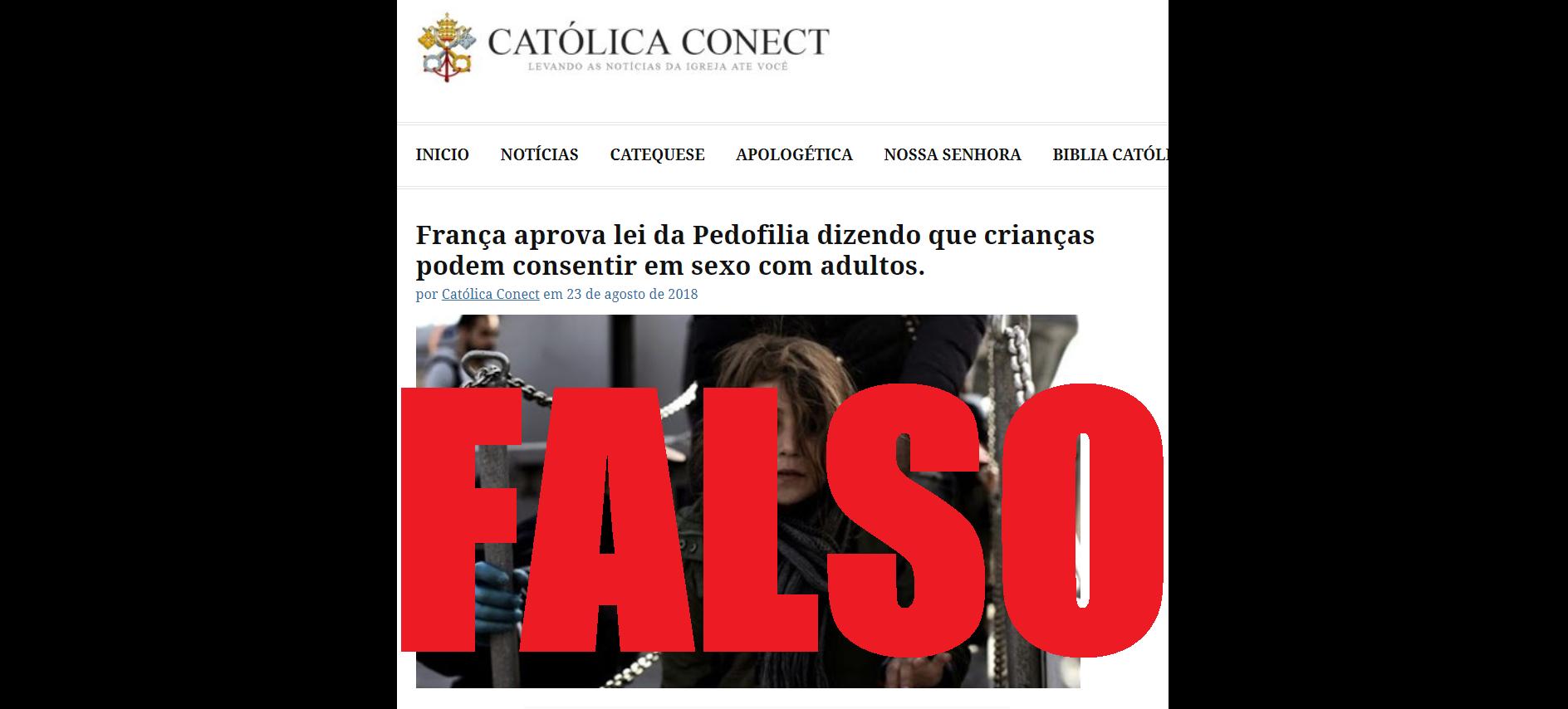 Captura de tela de uma publicação disseminando a notícia falsa, 5 de setembro de 2018